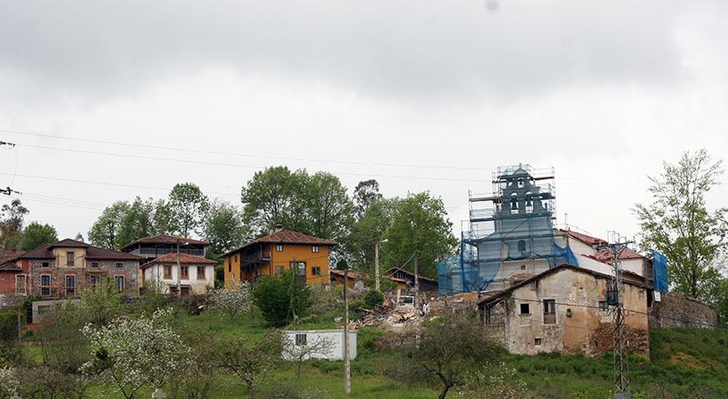 Iglesia de Villazón, obras de rehabilitación (vista exterior)