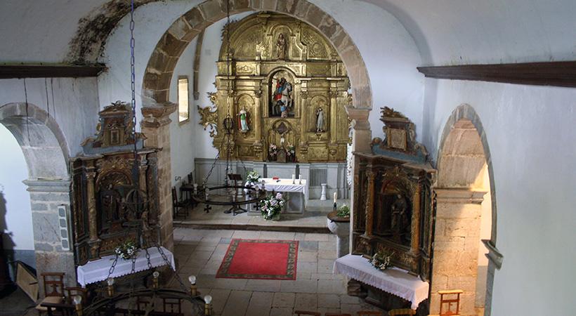 Iglesia de Villazón, obras de rehabilitación (vista interior)